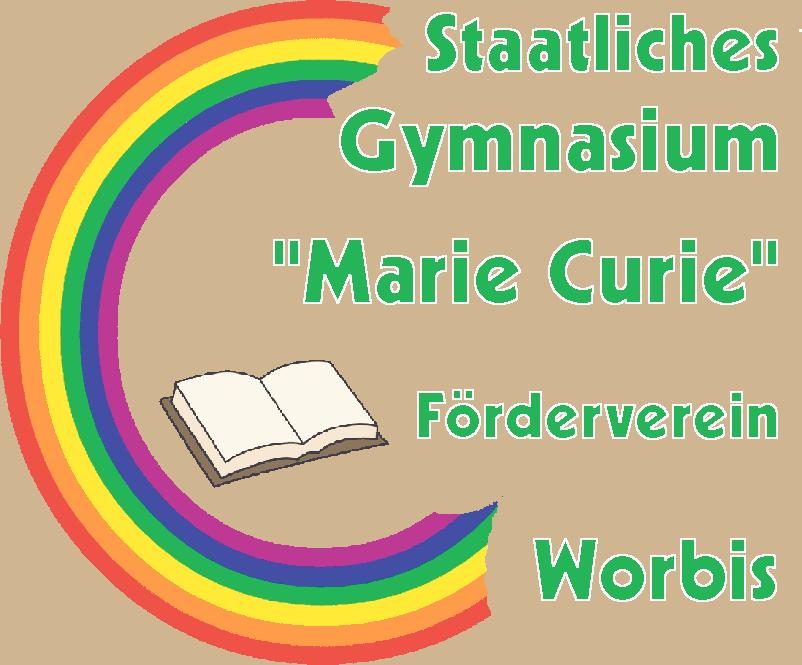 """Förderverein des Staatlichen Gymnasiums """"Marie Curie"""" Worbis Logo"""